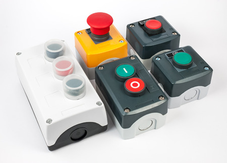assembled: Variety of push button station. Start stop electronic control. Assembled Stations. Various types.