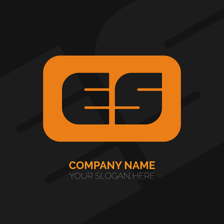 vector es: Creative E and S letter vector logo design. ES Vector sign. Character logotype symbols. Logo icon design Illustration