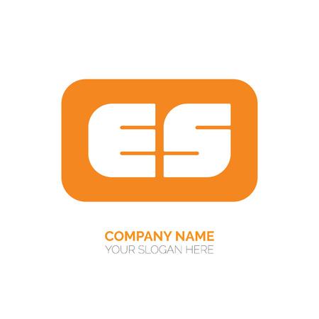 Creative E and S letter vector logo design. ES Vector sign. Character logotype symbols. Logo icon design Logó