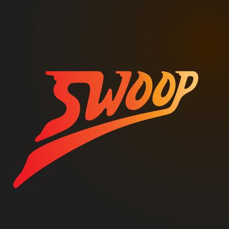 swoop: Swoop vector logo design. Lettering vector logo. Calligraphic logotype design