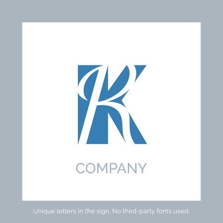 Creative k letter vector sign design. Character symbols. Icon design for website