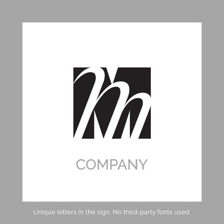 Creative M letter vector sign design. Character symbols. Icon design for website