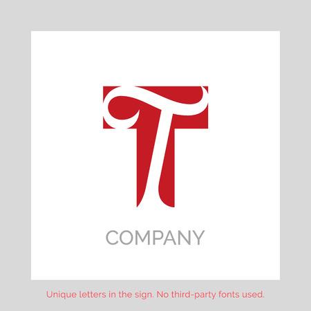 Creative T letter vector sign design. Character symbols. Icon design for website Vektorové ilustrace
