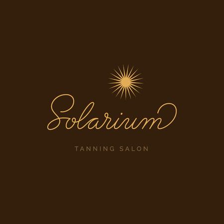 Solarium Tanning Salon Logo. Vector Signboard. Lettering logotype Illusztráció