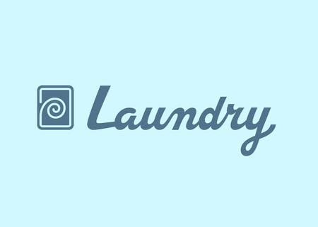 Laundry logo emblem design. Lettering Vector illustration.