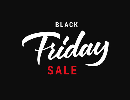 Black Friday lettering vector inscription. Text design