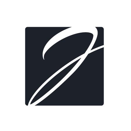 Creative j letter vector logo design. Monogram vector sign. Character logotype symbol. Icon design