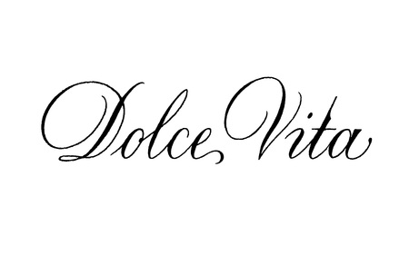 Dolce Vita Vektorkalligraphie. Vektorzeichenbeschriftung Vektorgrafik