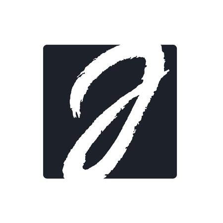 Creative j letter vector logo design. Handwritten text with paint brush texture. Monogram vector sign. Character logotype symbol. Icon design