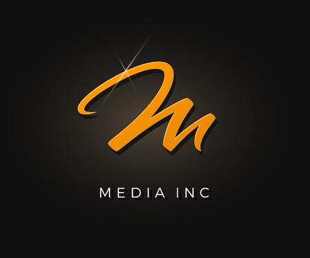 Creative m letter vector logo design. Monogram vector sign. Character logotype symbol. Icon design