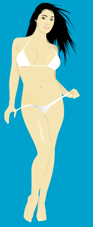 Ledy in white Illustration