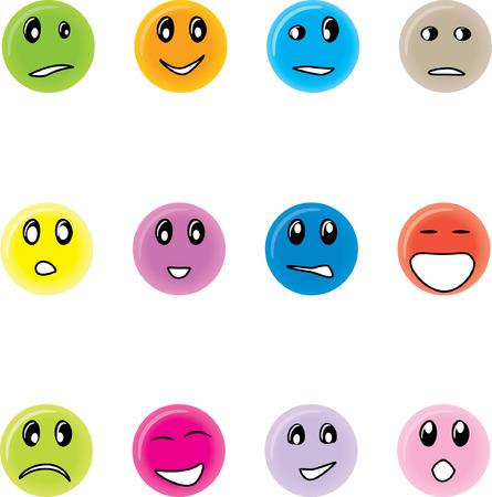 Round smiles Stock Vector - 4736340