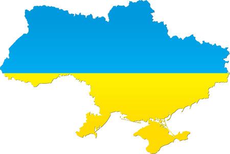 Detailed map of Ukraine Vector