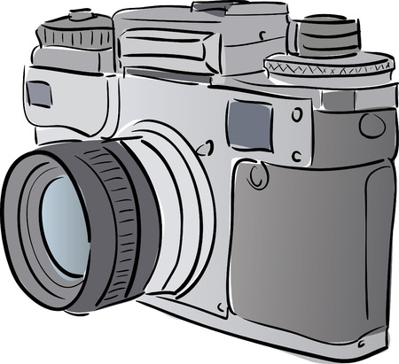 Stylized camera Vector