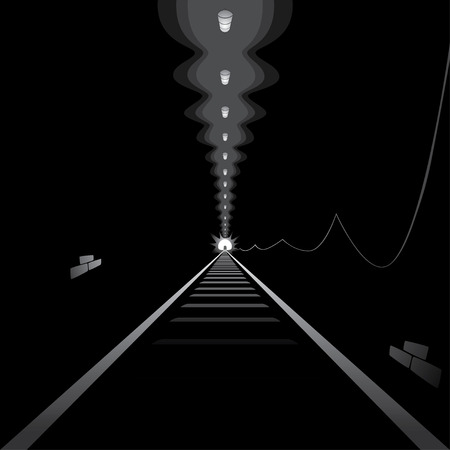 Light at the end of tunnel Vector