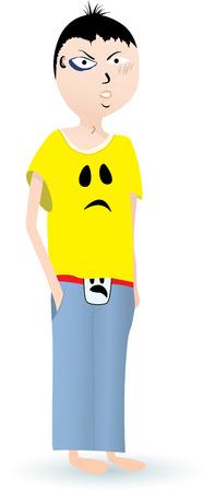 battu: Angry gar�on Illustration