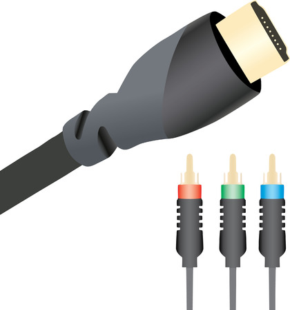 uncompressed: HDMI and Component cables Illustration