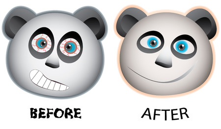 Pandas face expression Stock Vector - 5415951