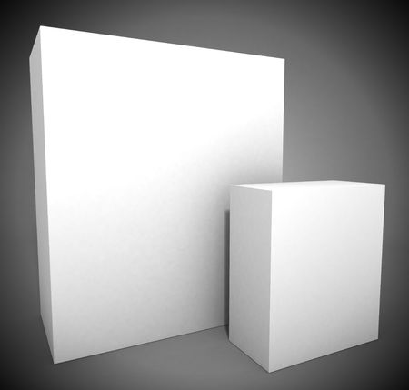 Big and small package boxes Stock Photo