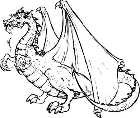 caligraphic: Tatto of a Black Dragon