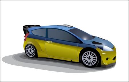rally car: Rally Sport Car Illustration