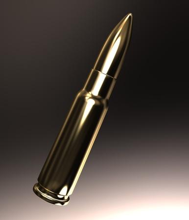 Gold bullet Stock Photo