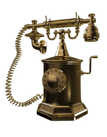 Gold old phone