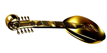 lute: Gold lute
