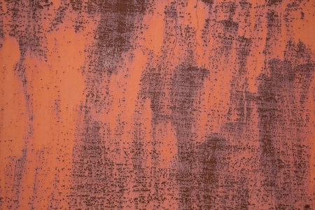 Painted rusty metal sheet