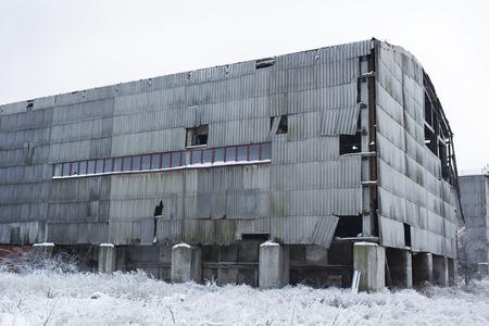 Abandoned warehouse hangar