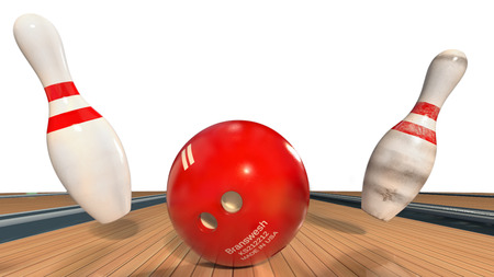 alleys: Bowling ball and pins