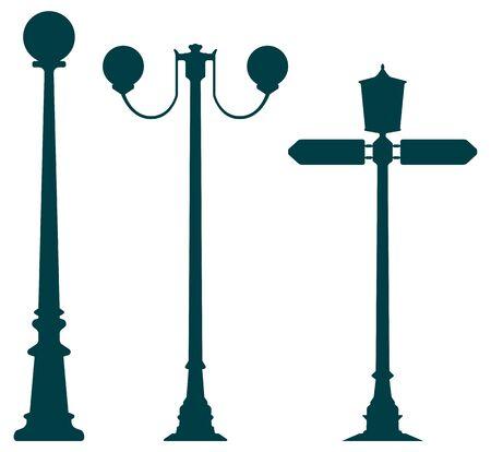 Decorative lampposts Ilustração