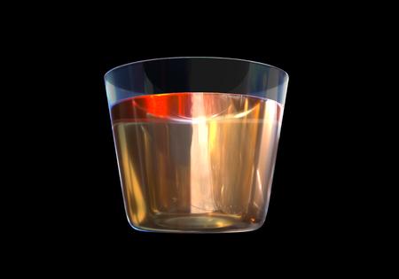 A glass of whisky on black background Banco de Imagens