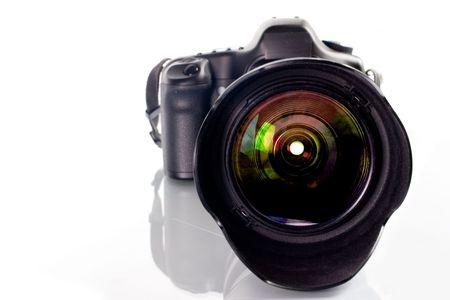 telezoom: Professional digital photo camera with tele lenses