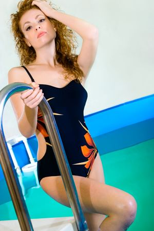 Beautiful young woman in swimsuit photo