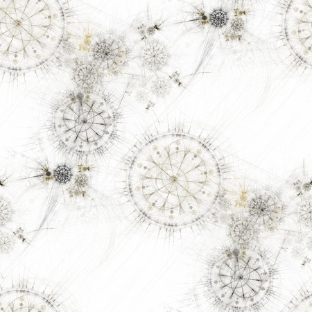floreal: Seamless tileable background with technological floreal graphics Stock Photo