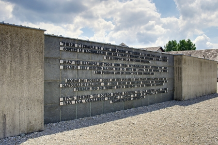 concentration camp: Detail of the Dachau Memorial in the Dachau concentration camp