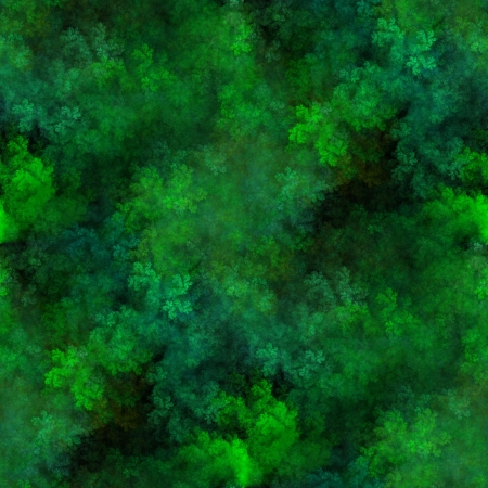 Tileable fractal abstract greenery image, seamless replicable horizontally and vertically