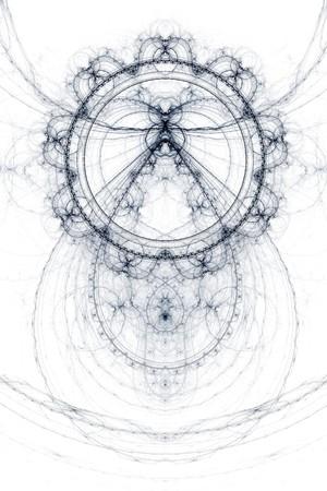 抽象的な古い錬金術シンボル テーマ, 白地に紫 写真素材