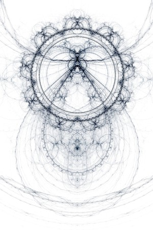magick: Abstract old alchemic symbols theme, violet over white background