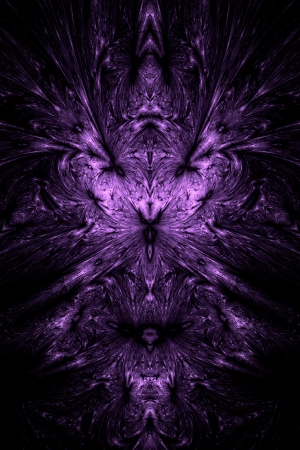 obscure: Purple over black theme resembling a rorschach test