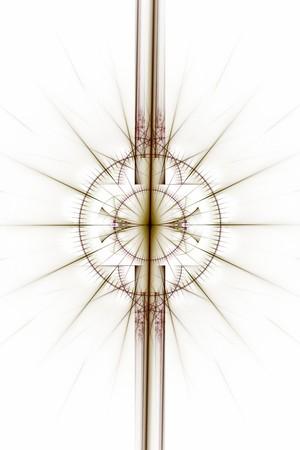 抽象的な古い錬金術シンボル テーマ、茶色と白の背景に紫