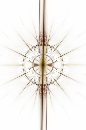 magick: Abstract old alchemic symbols theme, brown and purple over white background