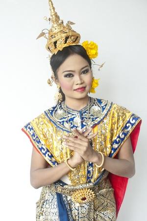 thai cultural show khon-thai classical masked ballet, thailand. ramayana photo