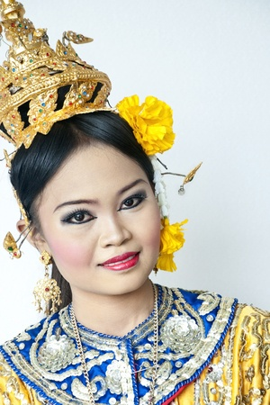 thai dancing: thai cultural show khon-thai classical masked ballet, thailand. ramayana