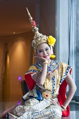 """thai cultural show """"khon-thai classical masked ballet, thailand. ramayana"""""""