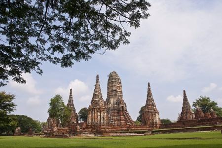 wonderful what chaiwattanaram pagoda temple, ayutthaya, thailand photo
