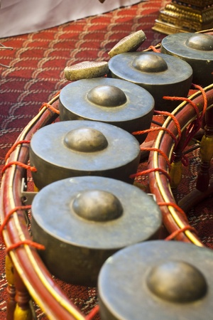 gong,thai musical instrument. Stock Photo