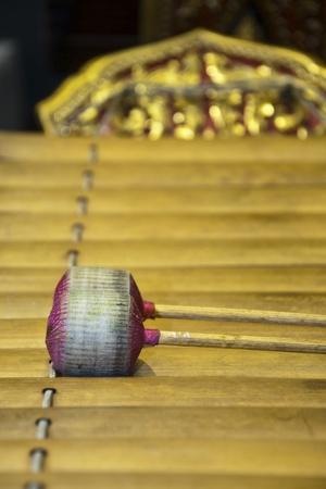 "resonator: thailand xylophone that it called "" ranat "" Stock Photo"