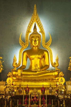 The Most Famous Buddha Image In Thailand, Bangkok (Wat Benjamaborphit) photo